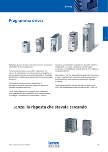 Programma drives Lenze: la risposta che stavate cercando