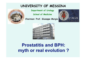 Prostatitis and BPH: myth or real evolution ?
