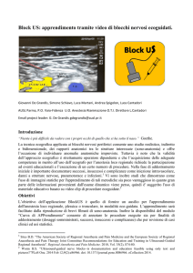 Block US: apprendimento tramite video di blocchi nervosi