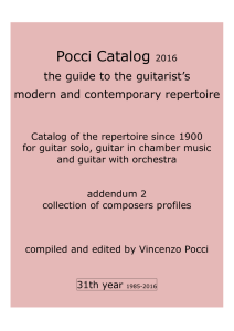 January 2016 - Just Classical Guitar Club