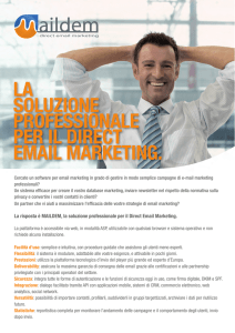 la soluzione professionale per il Direct email marketing.