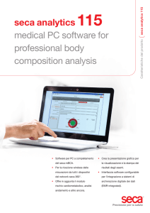 seca analytics 115 medical PC software for professional body
