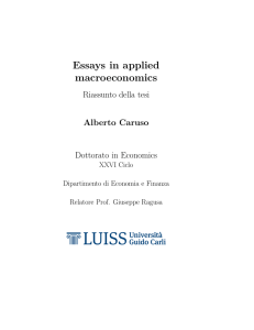 Essays in applied macroeconomics