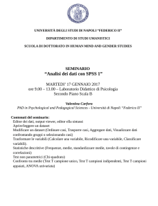 Analisi dei dati con SPSS 1 - Mind, Gender and Languages