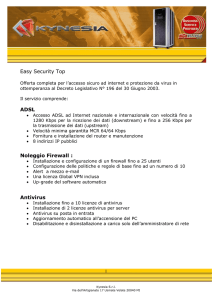 Easy Security Top ADSL Noleggio Firewall : Antivirus