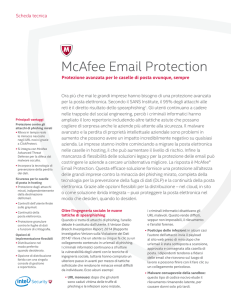 McAfee Email Protection Scheda Tecnica