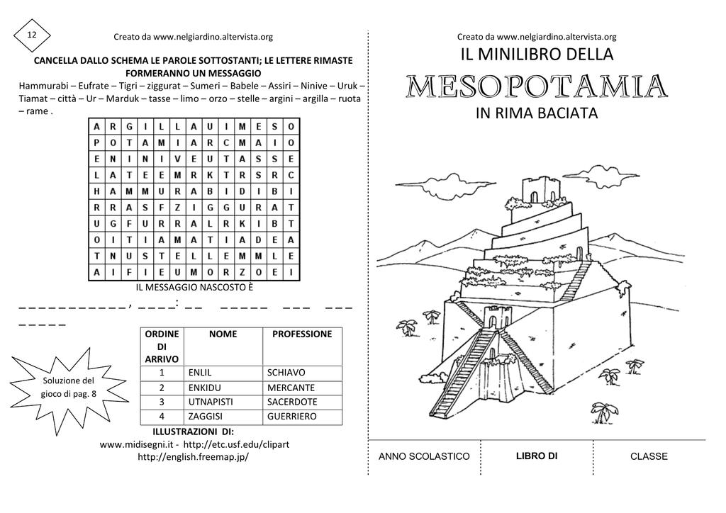Minilibro Sulla Mesopotamia Nel Giardino