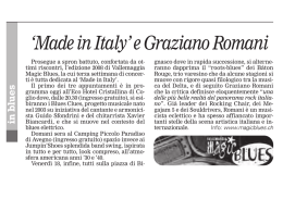`Made in Italy` e Graziano Romani