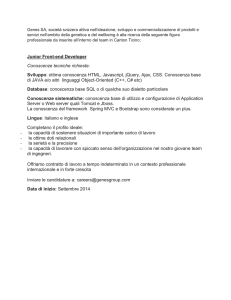 Junior Front-end Developer Conoscenze tecniche