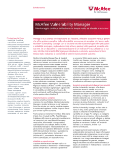 McAfee Vulnerability Manager Scheda Tecnica