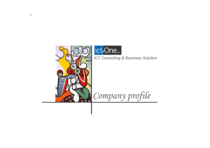 ict-One - Company profile - e