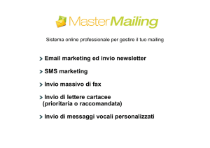 Email marketing ed invio newsletter SMS marketing Invio massivo di