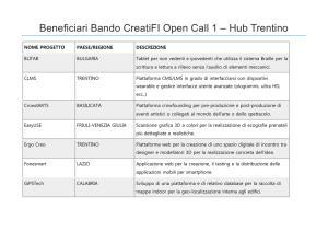 Beneficiari Bando CreatiFI Open Call 1 – Hub