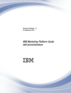 IBM Marketing Platform Guida dell`amministratore