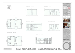 Louis Kahn, Esherick House, Philadelphia, 1961