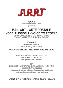 mail art – arte postale voce ai popoli - voice to people