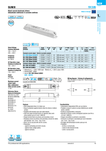 SLIM/U SELV NEW - TCI professional led applications