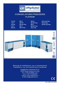 congelatori/ freezers platinum
