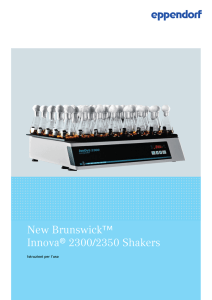 New Brunswick™ Innova® 2300/2350 Shakers