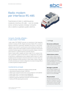 Radio modem per interfacce RS-485