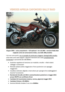 unico proprietario – full optional - km 116.000 – versione Rally Raid