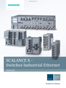 SCALANCE X - Switches Industrial Ethernet