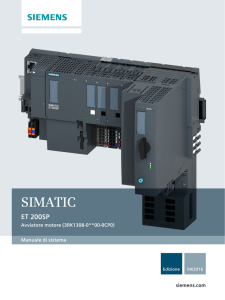 Manuale di sistema SIMATIC ET 200SP