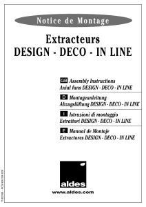 Extracteurs DEsIgN - DEco - IN lINE