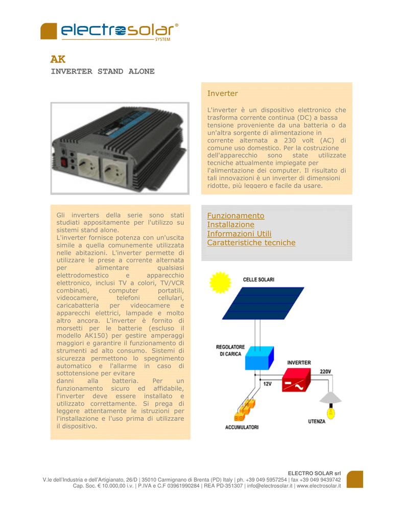 come si fa a collegare un inverter di potenza