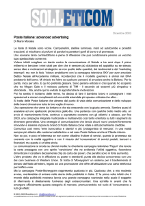 Poste Italiane: advanced advertising Poste Italiane