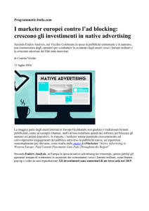 crescono gli investimenti in native advertising - UPA