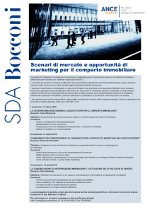 Scenari di mercato e opportunità di marketing