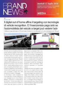 Il digital out of home affina il targeting con tecnologie di vehicle