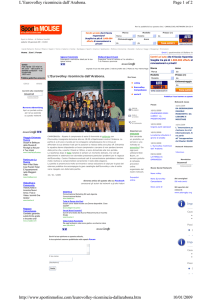Page 1 of 2 L`Eurovolley ricomincia dall`Arabona. 10/01/2009 http
