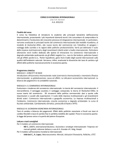 Note per un Ciclo di Lezioni in Environmental Law and Economics