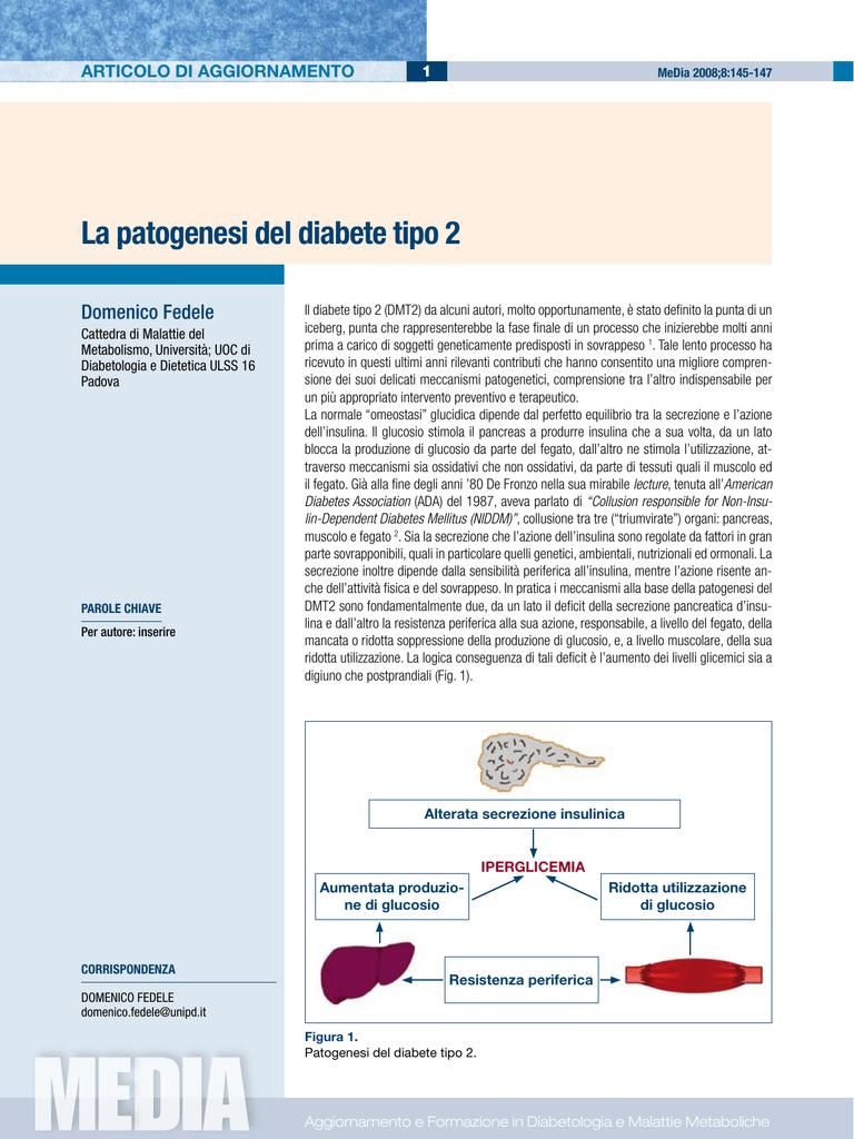 fasi del diabete di tipo 2