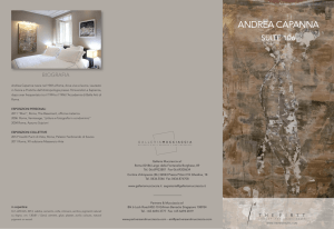 andrea capanna - The First Luxury Art Hotel Roma
