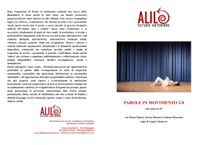 Brochure Parole in movimento 2.0 2017