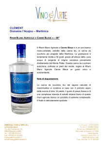 Rhum Blanc Agricole Canne Bleue IT