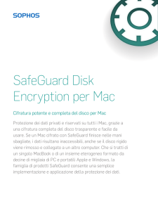 SafeGuard Disk Encryption per Mac