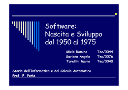 "storia del software - ""PARTHENOPE"""