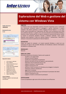 Esplorazione del Web e gestione del sistema con Windows Vista