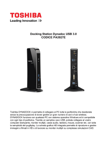 Docking Station Dynadoc USB 3.0 CODICE PA3927E