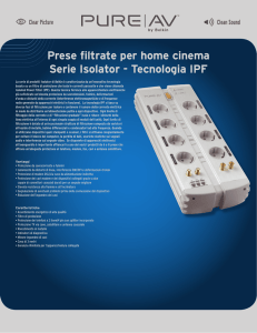 Prese filtrate per home cinema Serie Isolator