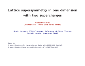 Lattice supersymmetry in one dimension with two supercharges