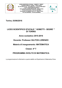 Matematica - Liceo scientifico Gobetti