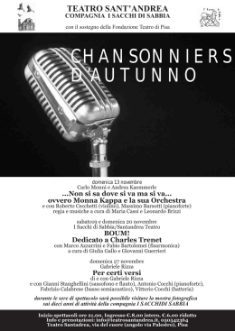 chansonniers d`autunno