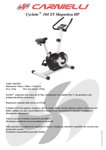 Scheda Tecnica - Cyclette 104 XT Magnetica HP