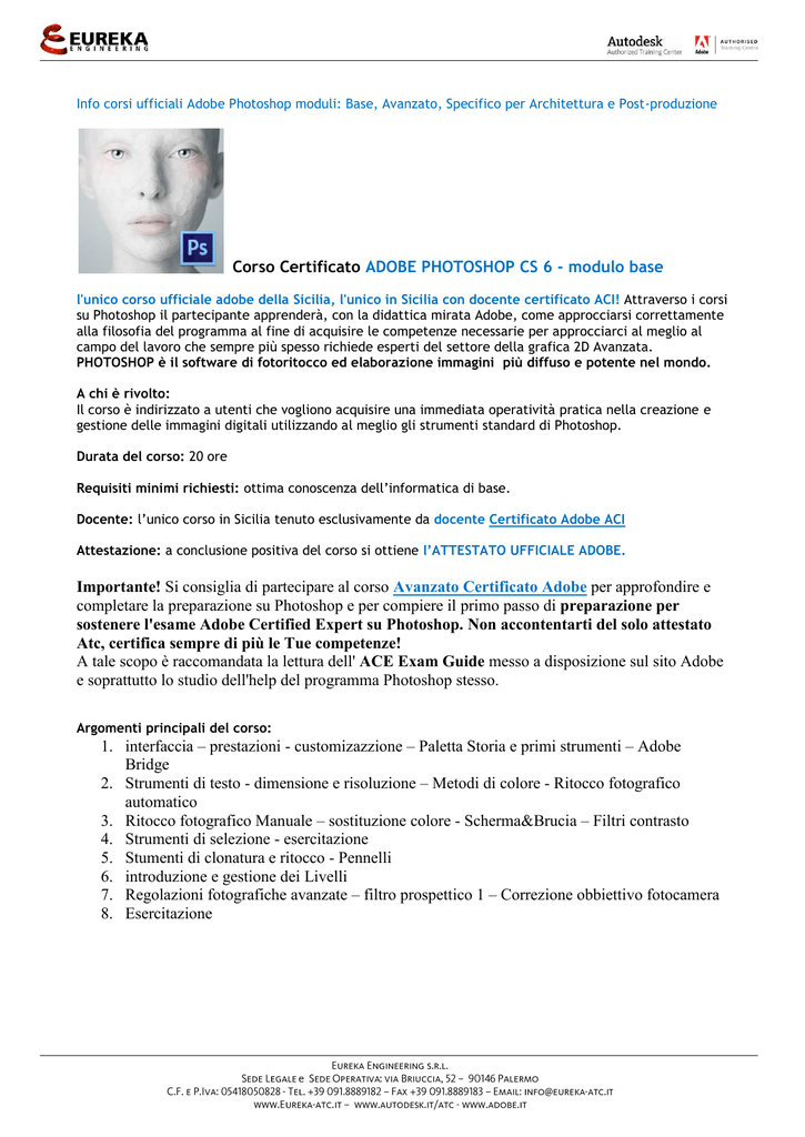 corso certificato adobe photoshop cs 6 rh studylibit com Adobe Photoshop CS6 Adobe Photoshop CC