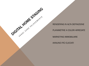 rendering in alta definizione planimetrie a colori arredate marketing
